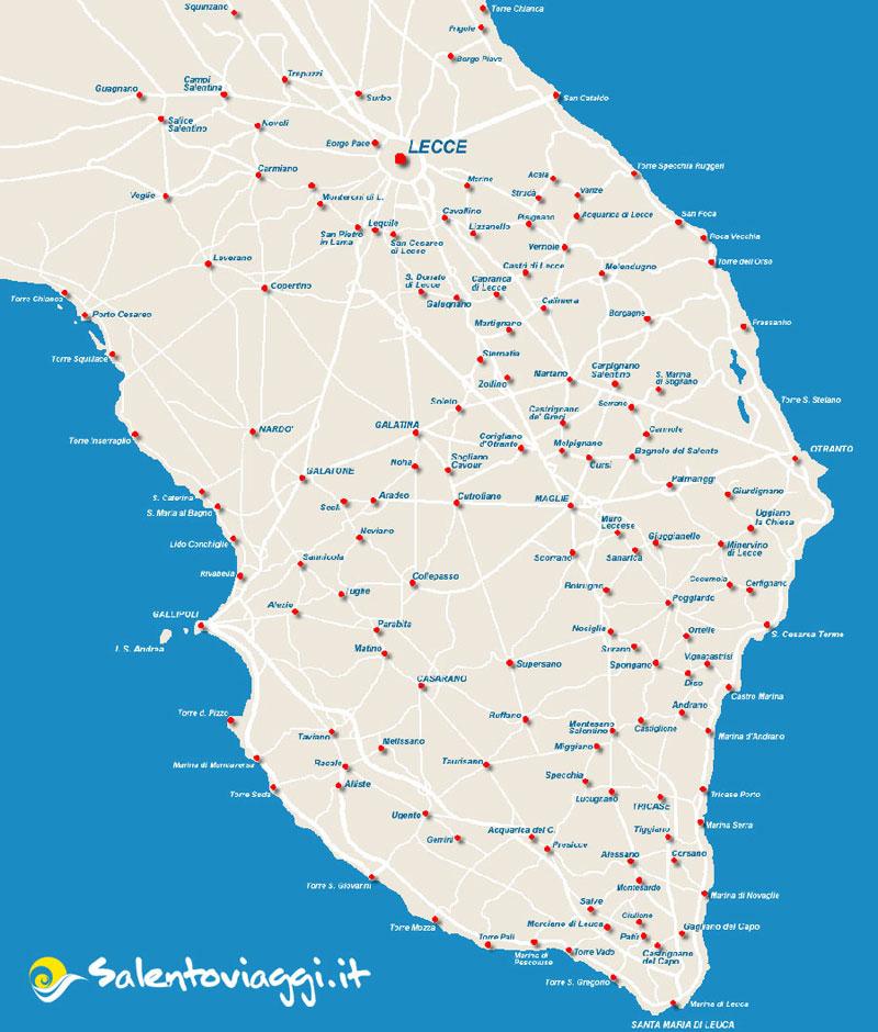 Cartina Stradale Puglia Stampabile.Cartine Tematiche Della Puglia E Del Salento