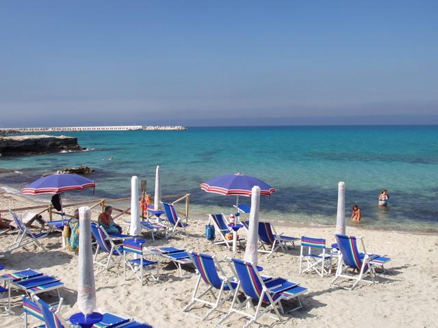 San Foca localita' costiera del Salento, Marina di Melendugno, in provincia di Lecce.
