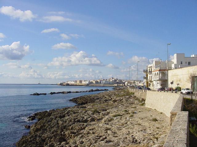 La costa di Gallipoli e' caratterizzata da tratti sabbiosi alternati a tratti di basse scogliere tufacee.