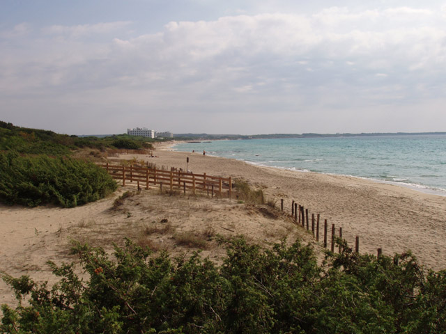 Situata a soli 2 km da Gallipoli, Baia Verde e' caratterizzata da un lungo tratto di costa sabbiosa con spiaggia fine e dorata.