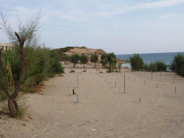La costa di Mare Verde e' bassa e rocciosa. Esiste solo una piccolissima spiaggia, ma l'arenile comunque non e' sabbioso, si tratta di ghiaia e ciottoli.
