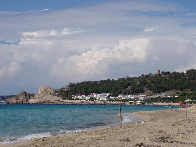 Lido Conchiglie presenta una costa di circa 2 km caratterizzata da tratti di scogliera alta e bassa e da un ampio tratto sabbioso.