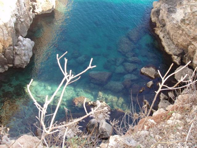 Splendido mare di Santa Cesarea Terme nel Salento in Puglia.