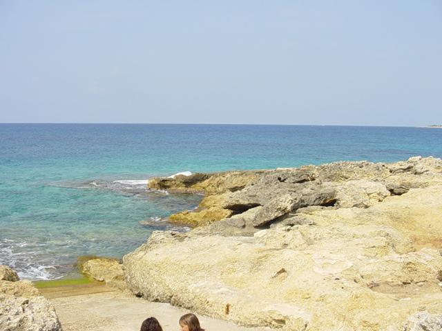 La costa di Torre Suda e' costituita da una spiaggia rocciosa ma bassa, di facile accesso ad un mare limpido e spettacolare, con dei fondali tutti da scoprire.