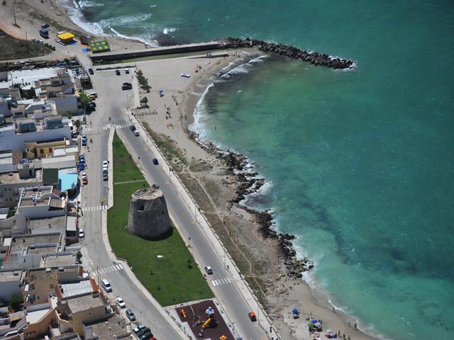 Torre Mozza caratteristico centro balneare della Marina di Ugento, si trova sulla costa occidentale del Salento - Puglia.