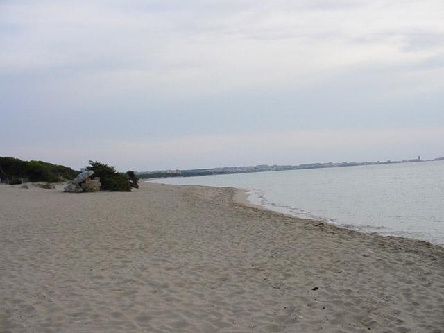La spiaggia di Padula Bianca e' la piu' bella delle marine di Sannicola, perche' il fondale degrada piu' lentamente presso la riva, rendendo le acque piu' trasparenti.
