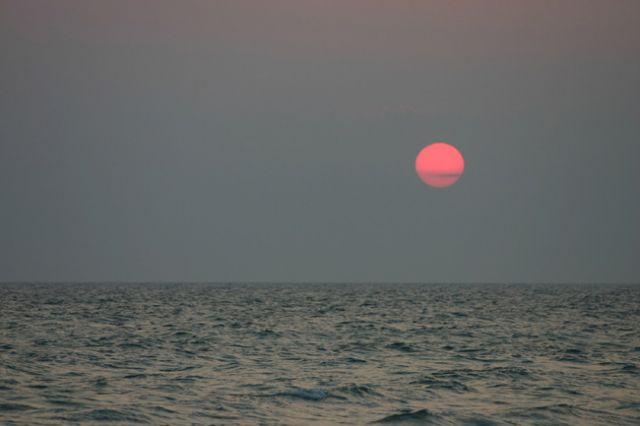 tramonto sul mare di Torre Rinalda
