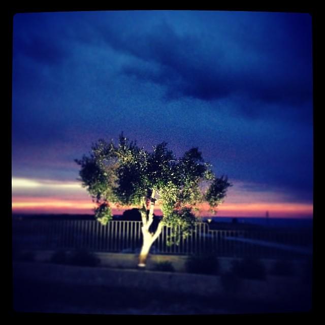 un tramonto catturato dalla masseria