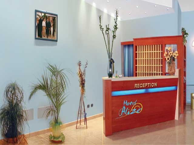 Reception dell'Hotel Aliz? ubicato a Santa Cesarea Terme nel Salento