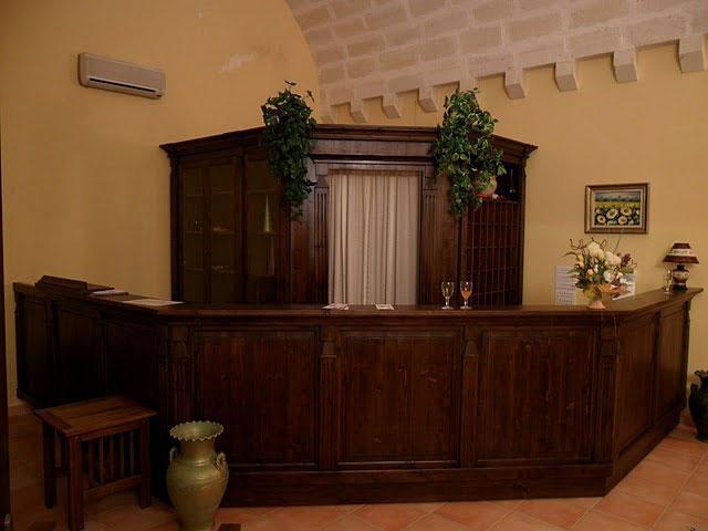 Reception della Masseria Santicuti ubicata a San Cataldo