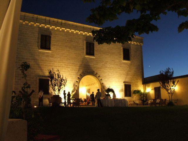 Illuminazione notturna della Masseria Santicuti