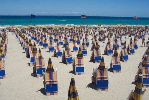Spiaggia attrezzatta del Villaggio Corte del Salento