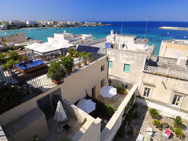 Centro storico di Otranto dall'alto