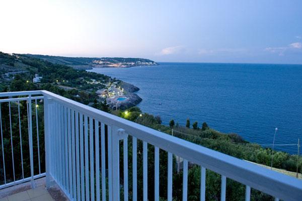 Vista mare dal balconcino delle camere