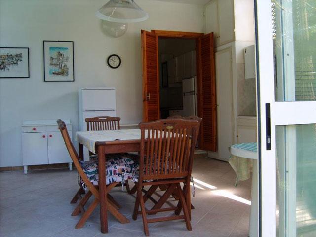 Soggiorno della casa vacanza in affitto a Torre dell'orso nel Salento