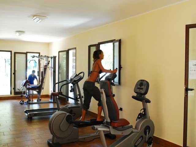 Fitness all'interno dell'Hotel Club Astor