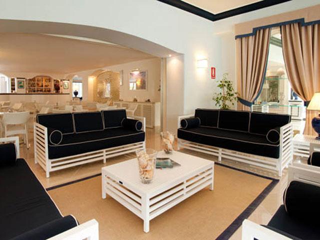 Sala a disposizione dei clienti dell'Hotel Levante