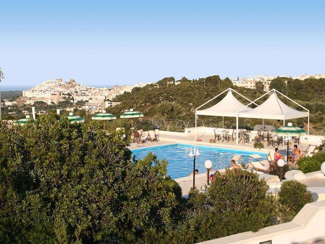 Vista della piscina panoramica