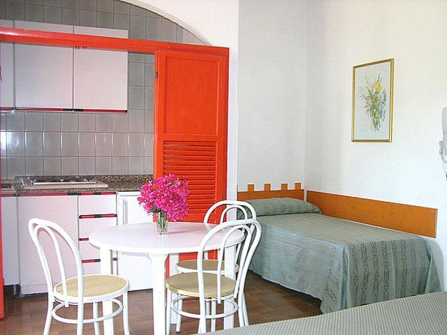 Interni degli appartamenti in complesso residenziale