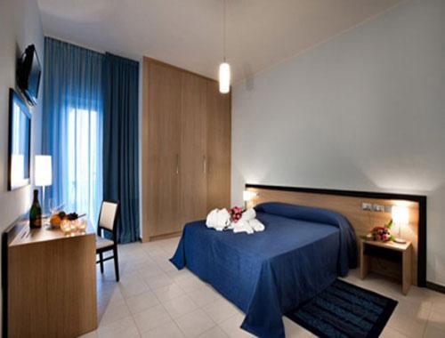 Semplici e raffinate camere dell'Hotel Club Azzurro
