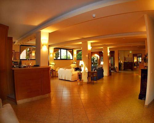 Vista degli ambienti interni del'Hotel