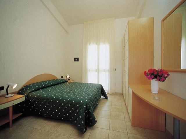 Camera da letto di uno degli appartamenti