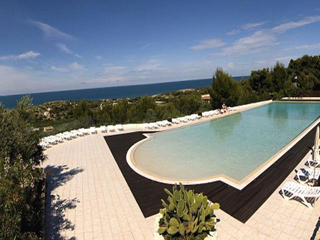 Vista della piscina ll'interno del Residence