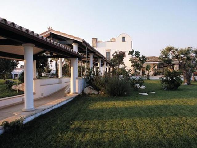 Ampi spazi verdi della masseria Chiancone Toricella