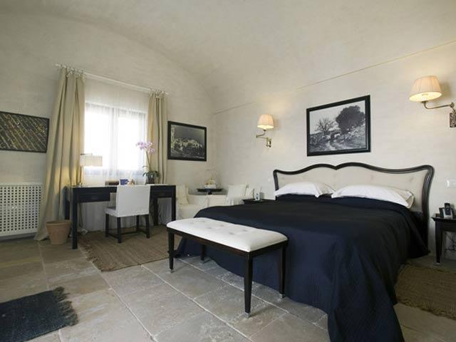 Eleganti camere da letto della Masseria
