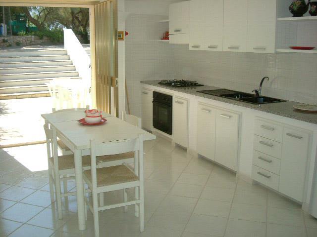 Ampia cucina con angolo cottura