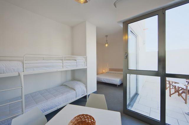 Vista della camera da letto di una delle camere
