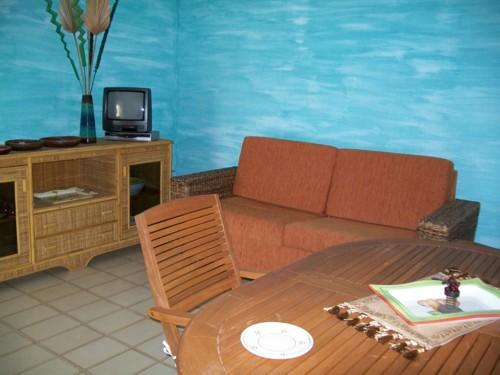 Vista del soggiorno della soluzione abitativa a Leuca
