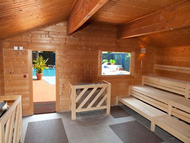 Sauna nel centro benessere del Villaggio Robinson Club Apulia di Ugento in Puglia