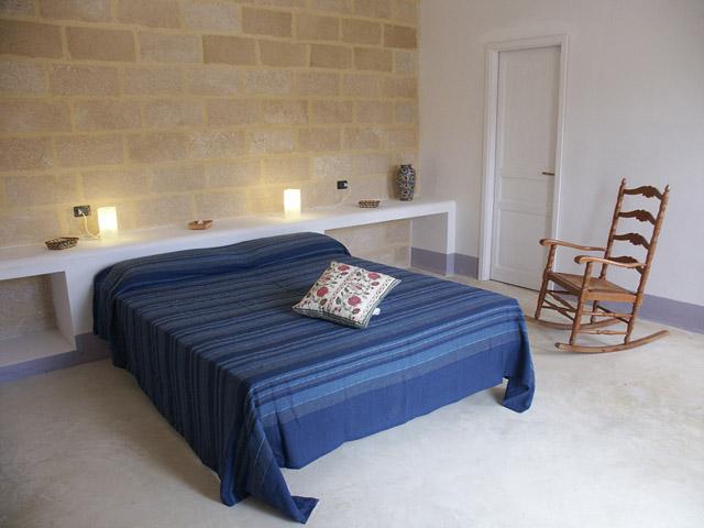 Interni delle camere da letto della Masseria