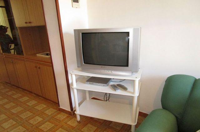 la tv nel soggiorno