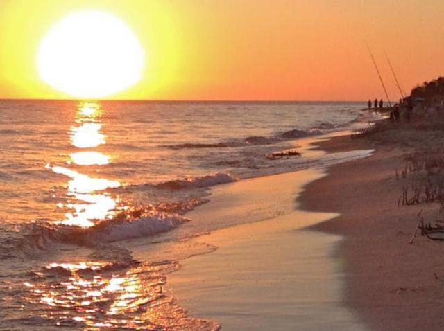 Il tramonto sul mare di Torre Mozza