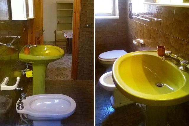 Il bagno privato dell'alloggio
