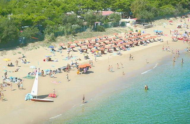 Vista panoramica della spiaggia nei pressi del Residence Club