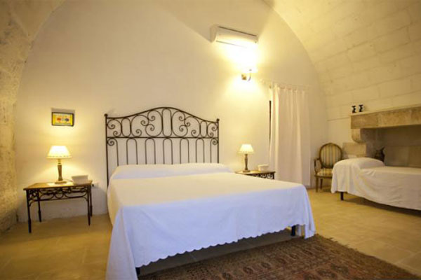 Elegante camera da letto della struttura