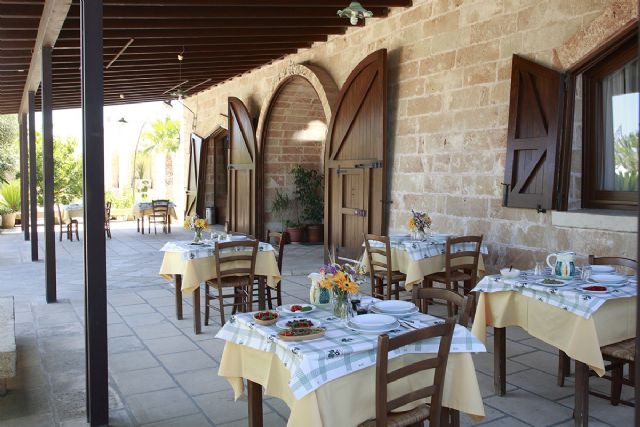 la terrazza del ristorante Matine
