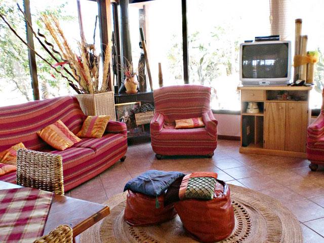 Angolo tv a disposizione degli ospiti nell'agriturismo Calabrese