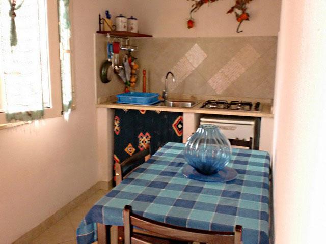 Cucina appartamento blu