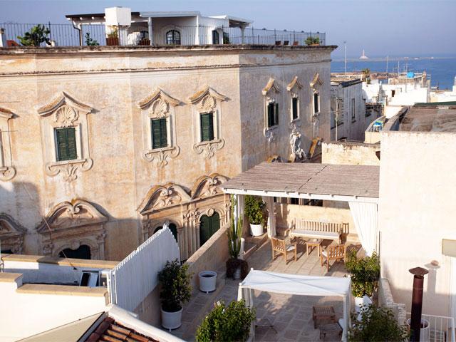 Bed & Breakfast Relais Corte Palmieri a Gallipoli con vista mare