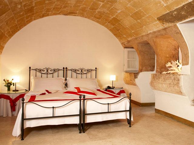 Vista di una delle camere disponibili nel Bed & Breakfast Relais Corte Palmieri a Gallipoli