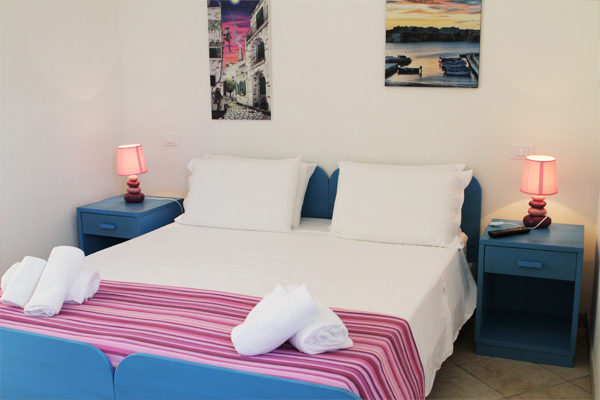 Particolari camere del bed and breakfast