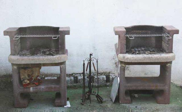il barbecue in giardino