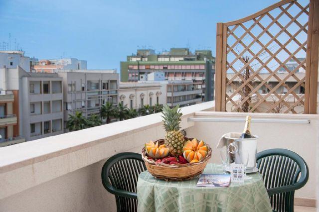 Il balcone di alcune camere del Joli Park
