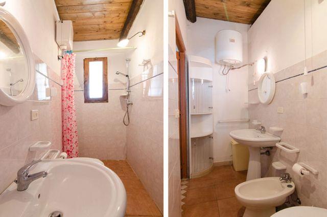 il bagno con bidet e box doccia