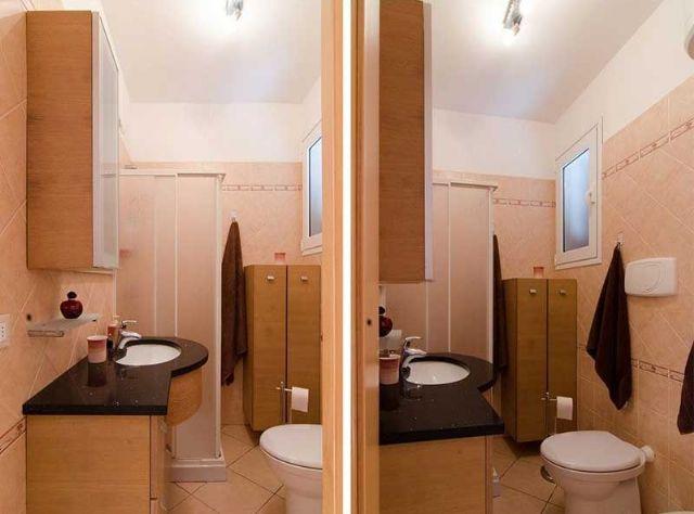 il bagno con doccia e bidet