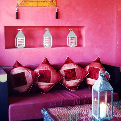 Interni in stile etnico dell'Hotel Resort Baia dei Turchi